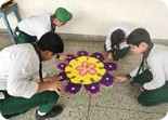 Inter House Rangoli Competition