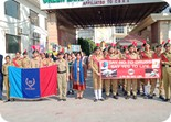 NCC CADETS CARRIED OUT RALLY AGAINST DRUGS
