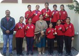 Silver and Bronze Medal Winners of Ludhiana Sahodaya Schools Complex Badminton Championship